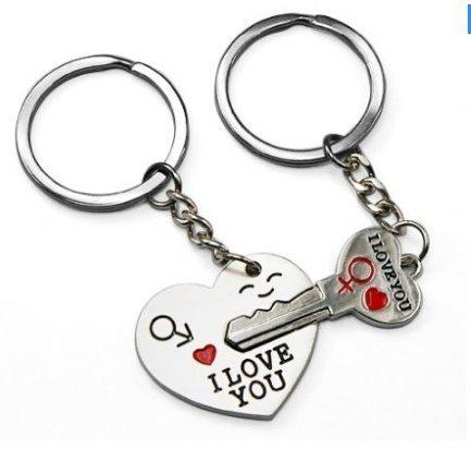 2015nuevo diseño Cute Couple Love Keychains clave para mi corazón lindo llavero
