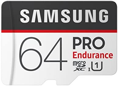 Samsung PRO Endurance 64GB Micro SDXC Card with Adapter - 10