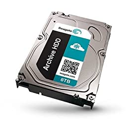 Seagate Archive HDD 8TB SATA 6GBps 128MB Cache SATA Hard Drive (ST8000AS0002) 16 For Archive use only Reliable, low-power data retrieval based on SMR technology Enjoy peace of mind with a drive engineered for 24x7 workloads of 180TB/year