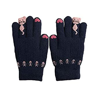 Amazon.com: Kids Thick Thermal Gloves Winter Warmer Knit