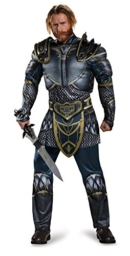 Disguise Men's Plus Size Warcraft Lothar Muscle Costume with Storm Wind Sword, Multi, (Storm Costume Plus Size)