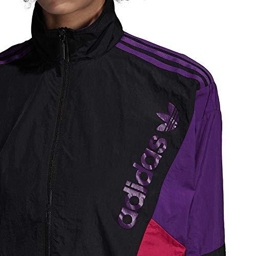 Femme Noir Tt Lg Track Adidas Top xvTScq