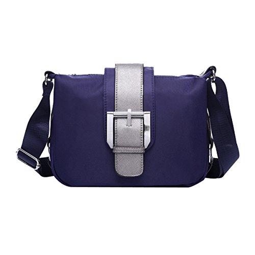 Señoras El Nylon Ocio Impermeables Todo-fósforo La Moda La Luz El Bolso De Hombro Inclinado Bolsas Blue