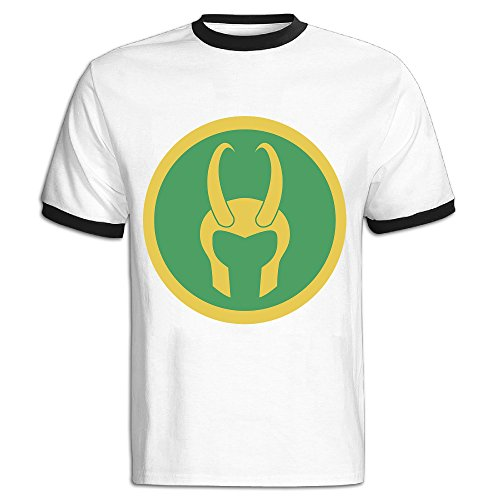 Tomsib Men's Loki Helmet T Shirts Black (Loki Helmet For Sale)