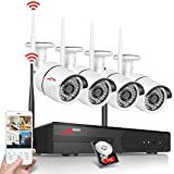 Wireless Security Cameras System, ANRAN 1080P WiFi Surveillance DVR Kit with 4pcs 2.0 Megapixel IP Network Cameras Waterproof, 1TB Hard Drive, Plug Play, Auto Pair, Free App for Remote Access For Sale