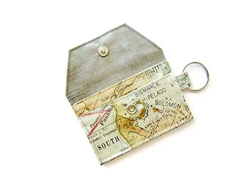 Amazon key chain wallet id credit business card holder key chain wallet id credit business card holder retro world map colourmoves