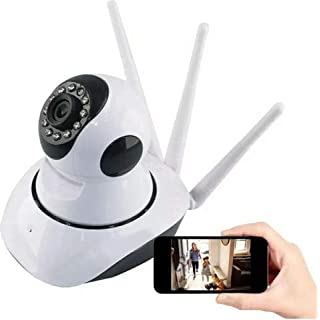 WiFi Wireless HD IP Monitor Camera IR with 3 Antennas Automatic Tracking Indoor/Outdoor Security Camera with Two-Way Talking/Night Vision/Mobile Tracking Detection, Support ONVIF Protocol(1080P)