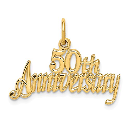 ow Gold 50th Anniversary Pendant Charm Necklace Fine Jewelry Ideal Gifts For Women Gift Set From Heart ()