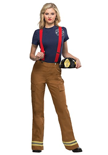 Women's Fire Captain Costume Large Brown]()