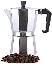 Turkish Coffee Maker Italian Espresso Moka Coffee Pot Octagonal Perfect Gift for Coffee Lover Aluminum 6 Cups 300ml