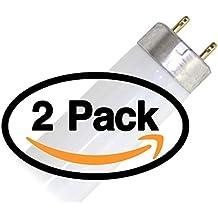 (2 Pack) GE 26668 - F32T8/SP41/ECO 32 Watt T8 Fluorescent Tube Light Bulb F32T8 32W 4100K ( F32T8/SPP41/ECO F32T8/SPX41/ECO FO32/841/ECO F32T8/HL741/ALTO F32T8/TL741/Alto FO32/741/ECO )