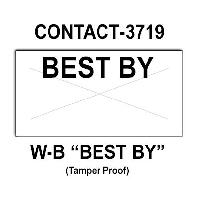 80,000 Contact compatible 3719 ''Best By'' White General Purpose Labels to fit the Contact 37-1212, Contact 37-6 Price Guns. Full Case. by Infinity Labels