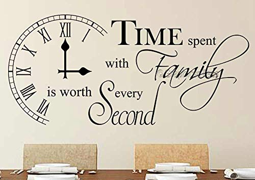 Graphics 'n' Tees - Time Spent with Family Inspirational Wall Sticker...