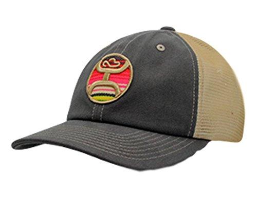 8aaaec39c Amazon.com: HOOey Womens Grey/Tan Serape Patch Trucker Cap One Size ...