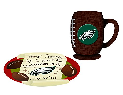 Philadelphia Eagles Cookies For Santa Plate and Mug Set