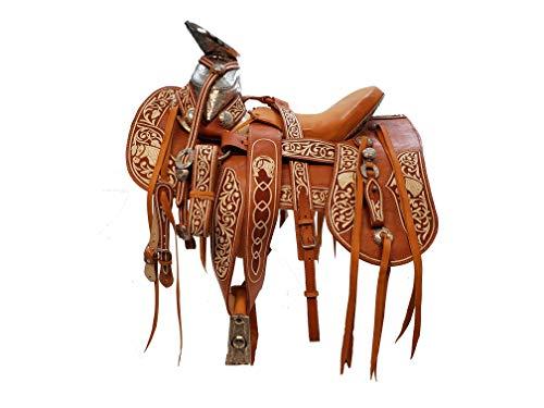 (Vertus Gen Mexican Charro Style Horse Saddle/Silla De Montar Estilo Charro Size 15 1/2 (Leather))