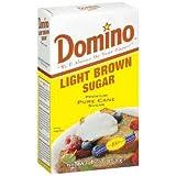 Domino Light Brown Sugar Premium Pure Cane Non GMO 16 Oz. Pk Of 3.