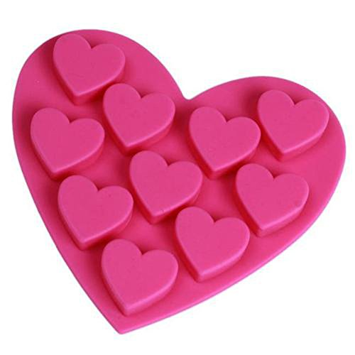 10 Heart Cookie Flexible Silicone Chocolate