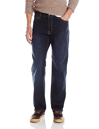 Izod Men's Comfort Stretch Denim Jeans (Regular,Straight, and Relaxed Fit), Dark Tint, 40x34