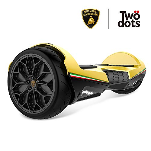 LAMBORGHINI Twodots Hoverboard 6.5 inch All Terrain Off-Road Racing Hover board with Music Bluetooth Speakers APP and…