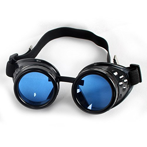 Fashion Cyber Goggles Steampunk Glasses Vintage Welding Punk Gothic Victorian PA