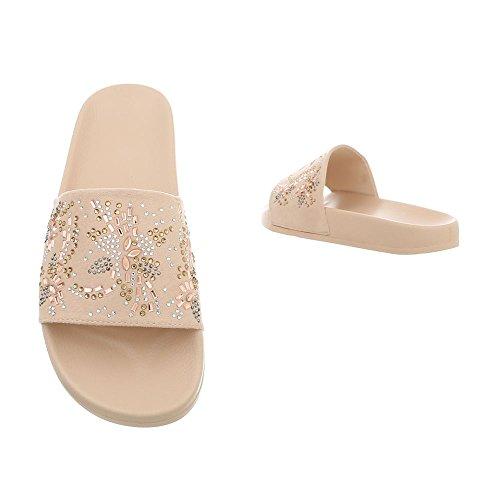 Design Beige Plat Sandales Ital Chaussures Femme 883 1 Mules dOIxxnfY
