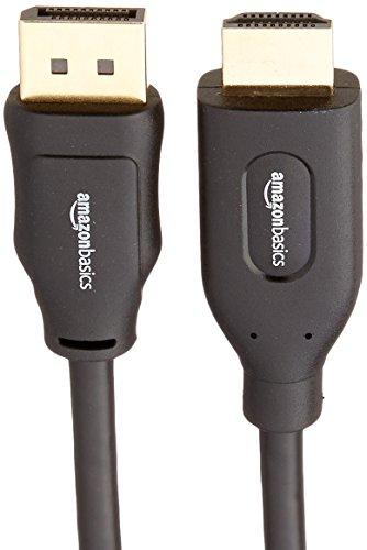 AmazonBasics DisplayPort to HDMI Cable - 6 Feet