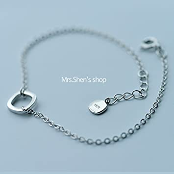 Amazon Com S925 Sterling Silver Bracelet Simple And Stylish Design
