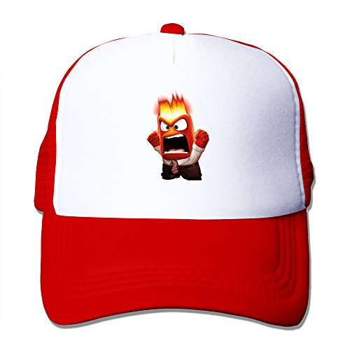 TIKE Unisex Outdoor Inside Out 2015 Anger Angry Man Baseball-caps Cap Hats Meshback Red