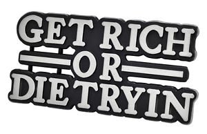 Get Rich Or Die Tryin Funny Belt Buckle Unique Metal Rap New Hip Cool