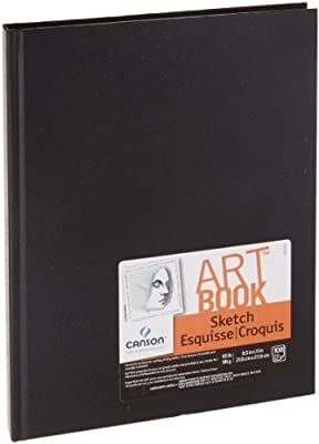"Canson Basic Sketch Book, 8-1/2"" x 11"", White (108 Sheets)"