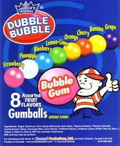 "GUMBALLS 1"" Dubble Bubble Concord Assorted (850 Count)"