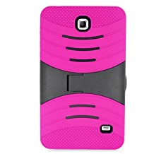 Lovelifemall Samsung Galaxy Tab 4 7.0 Kids Case -Durable Heavy Duty Rugged Impact Hybrid Case with Built-in Screen Protector For Samsung Galaxy Tab 4 7.0 (SM-T230 / SM-T231 / SM-T235) (Rose)