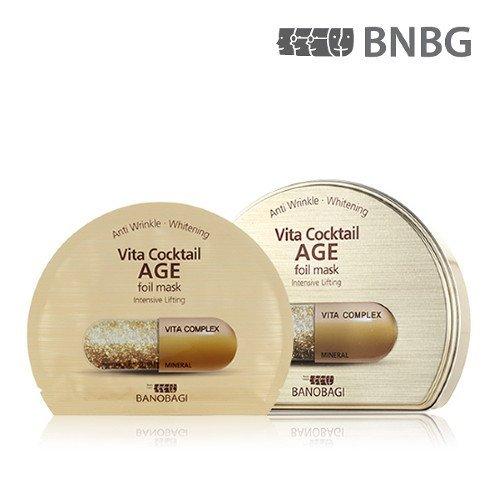 - New BANOBAGI(BNBG) Vita Cocktail Age Foil Mask Sheet 30ml 10pcs Set for Intensive Lifting
