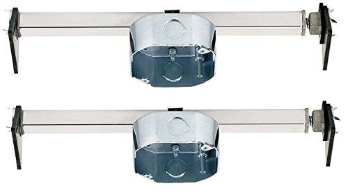 Ciata Lighting Saf - T-Brace for Ceiling Fans, 3 Teeth, Twist and Lock - 2 Pack
