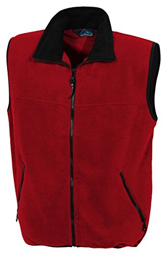 Tri-Mountain 8350 Panda fleece vest - Red / Black - M