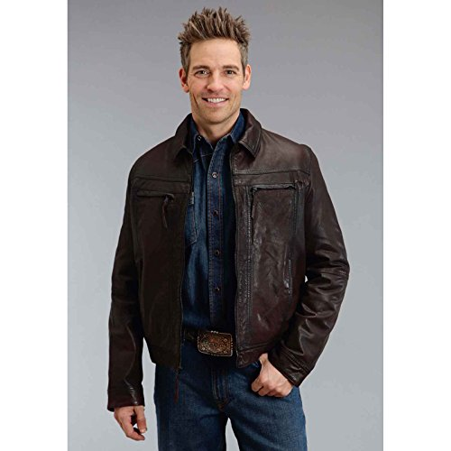 Brownsmooth Leather Jacket Stetson Men146s Collection-outerwear (xl) - Collection Xl Stetson