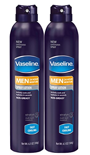 Vaseline Men Spray Lotion, Cooling 6.5 oz, Twin Pack (Massage Cooling Spray compare prices)
