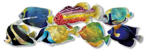 Tropical Fish II Metal Wall Art - 42W x 14H in.