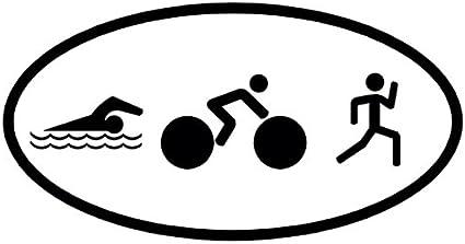 NUEVO adhesivo con logotipo de triatlón natación bicicleta Correr ...