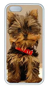 Super Cute Puppy TPU Silicone Rubber iPhone 5 and iPhone 5S Case Cover - White hjbrhga1544