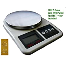Quality Gram/Ounce Kitchen Scale by DigiWeigh- Measuring Food, Dieting Portions, and More