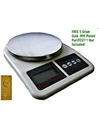 Favor .002 Ounce Stainless Steel Kitchen Scale, Digital Measuring dispense