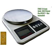 1 Digital POST OFFICE OUNCE SCALE-Tabletop/Desktop Oz Postage/Stamp/Postal Shipping Weight Balance + 5 Gram Gold Test Bar