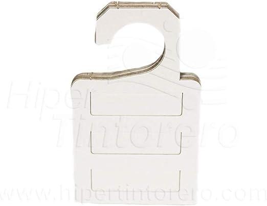 Hiper Tintorero 50 Perchas 3 Corbatas de cartón: Amazon.es: Hogar
