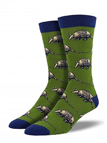 socksmith-mens-bamboo-novelty-crew-socks-armadillo-1-pair-green