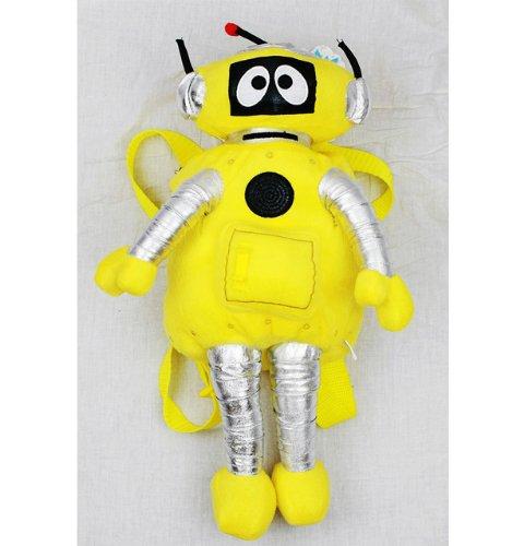 Plush Backpack - Yo Gabba Gabba - Plex (Yellow) New Soft Doll Toys yg6997-8