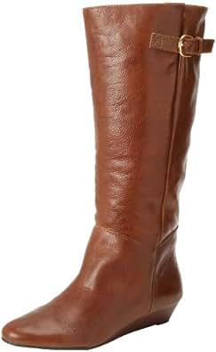 STEVEN by Steve Madden Women's Intyce Riding Boot,Cognac,5.5 M