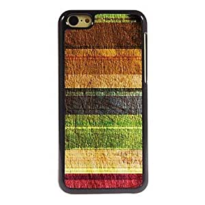 QYF Vintage Stripes Pattern Aluminum Hard Case for iPhone 5C , Blue