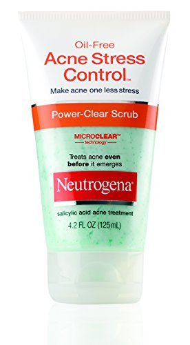 Neutrogena Power-Clear Scrub, Oil-Free Acne Stress Control, 4.2 oz - Buy Packs and SAVE (Pack of 2)